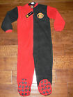 BOYS MANCHESTER UNITED  FLEECE  PYJAMAS  SLEEPSUIT  ONESIE