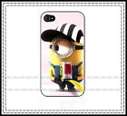 Despicable Me Minions Fishing Iphone 4 / 4s / 5 - Black or White Hard Case Fun ♥