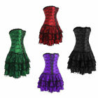 Sexy women's burlesque corset skirt dress gorgeous party evening top wear