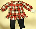 NWT Carter's Toddler Girl 2 Pcs Long Sleeve Outfit Size 6M to 24M Purple or Red