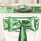 "12x108"" Satin Table Runner & 6x108"" Chair Sashes Value Pack Wedding Party Decor"