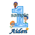 BOYS BUBBLE GUPPIES 1ST BIRTHDAY  IRON ON TRANSFER AGE 1   3 SIZES!