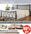 WINDSOR Black Metal Bed Frame 4FT6, beautiful matt black finish, Fantastic Value