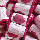 PERSONALISED LOVE HEART SWEETS WEDDING FAVOURS ROSE FLOWER 20 - 300 any colours