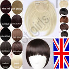 Black Dark Brown Blonde Clip In On Bang Side Fringe Hair Extensions UK 2013