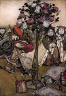 Art Print - Alice In Wonderland The Queen's Croquet Ground - Rackham Arthur 1867