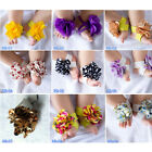Cute Baby Infant Girls Barefoot Flower Sock Sandals Shoes Toe Blooms NEW XTY015