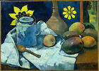 Art Photo Print - Still Life With Teapot And Fruit - Gauguin Paul 1848 1903