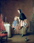 Art Photo Print - Morning Toilet - Chardin Jean Baptiste Simeon 1699 1779