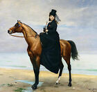Art Photo Print - Equestrian Portrait Of Mlle Croizette - Carolus Duran 1838 191