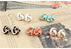 Lacquered Knot Stud Earrings Elegant Europe Style Lady Charming Jewellry JW132