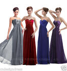 Faironly Chiffon Evening Bridesmaid Dress Formal Gown Size 6 8 10 12 14 16 New