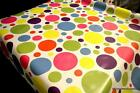 Fun Spots PVC Tablecloth ALL Sizes Wipe Clean Vinyl Oilcloth Party Birthday