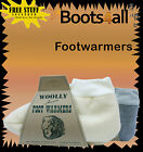 BRAND NEW Australian Woolly Foot Warmers Slippers Sheepskin Grey & Natural!!