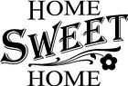 Home Sweet Home Flower Vinyl Wall Decor Decal Quote Inspiration Elegant Adorable