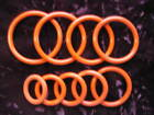 """SILICONE O-RINGS - Choose from 15 sizes - up to 2-1/4"""""""