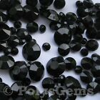 BLACK WEDDING TABLE DIAMONDS SCATTER CRYSTALS