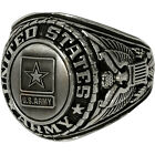 Army Insignia Ring 18K Gold Plated with Rodinium Finish