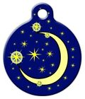 MOON AND STARS - Custom Personalized Pet ID Tag for Dog and Cat Collars