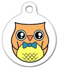 PROFESSOR OWL - Custom Personalized Pet ID Tag for Dog and Cat Collars