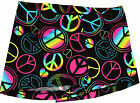 NEW!! Party Time Peace Signs Gymnastics Shorty Shorts by Snowflake Designs