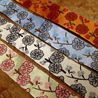 "FRENCH RIBBON 1.5"" Lotus Blossom Flowers Made in France 1yd"