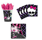 Monster High Birthday Party Supplies Kit, Plates Napkins & Cups Set for 8 or 16