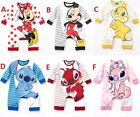 New Baby Boys Girls Disney Long Sleeves Romper One Piece Clothes Size 00,0,1,2