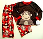 NWT Carter's Boy's MONKEY AROUND Flame Resistant 2 pcs Sleepwear w/long sleeves