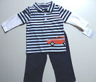 NWT Carter's Boys CAR 2 pcs outfit Long Sleeve Shirt & Pants Sizes 3M & 9M