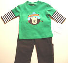NWT Carter's Boys BEAR 2 pcs outfit Long Sleeve Shirt & Pants Sizes 3M/6M/8M/18M