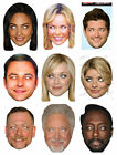 CARD FACE MASK AMANDA HOLDEN WILL-I-AM DAVID WALLIAMS FEARNE COTTON MANY MASKS