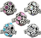 NEW Mixed Rhinestone Swirl Scroll Spacer Beads Fits Most European Charm Bracelet