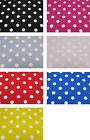 "100% Cotton Poplin Dress Fabric Material - 22mm Spots - 7 Colours - 44"" (112cm)"