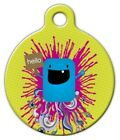 HELLO - Custom Personalized Pet ID Tag for Dog and Cat Collars