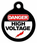 HIGH VOLTAGE - Custom Personalized Pet ID Tag for Dog and Cat Collars