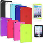 Red/Blue/Green/Black Soft Gel Skin Silicone Rubber Case Cover For iPad Mini