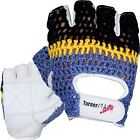 Weight Lifting Gloves White Leather Cycling Glove Fitness Training Crochet US