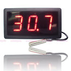 Large Digital Thermometer Temperature Meter Gauge With Probe AC 220V -50C-110C