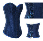CHIC FASHION Floral Ladies Overbust Corsets Basques/G-String Lingerie S-2X