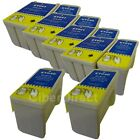 10 Non-OEM Replacements for Epson T040/T041 Printer Ink Cartridges. VAT Invoice.