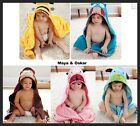 "BABY TODDLER ANIMAL ZOO MONKEY BEE FUNKY BATH CUDDLE WRAP HOODED TOWEL 34"" x 36"""