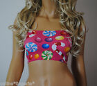 SIZE 4 FUN RETRO 80'S  BOOB TUBE STRAPLESS BANDEAU TOP CLUB BEACH SUN PARTY B115