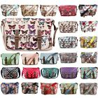 Ladies Designers Oilcloth Cross Body Messenger Saddle Bag School Satchel Handbag