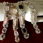 "Magestic Collection FAUX STONES 3/4X6.5"" PEARLS GLASS BEADS 1pc CUFF BRIDAL HAIR"