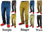 MENS JEANS CHINOS NON CUFFED PANTS CARROT FIT BOTTOMS COMBAT CARGO TROUSERS NEW