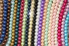 4mm,6mm,8mm,10mm,12mm Round Glass Pearl Spacer Loose Beads 21 Colors