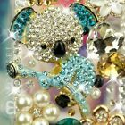 S29 Luxury Bling Crystal Blue Style Koala Bear Cover for iPhone 4 / 4S / 5