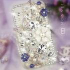 S34 Luxury Bling Crystal Flower Case Cover for iPhone 4 / 4S / 5