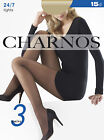 CHARNOS 24/7 TIGHTS 15 DENIER 3 PAIR PACK BLACK